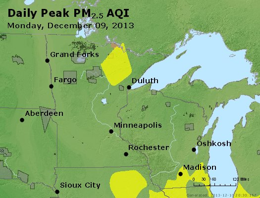 Peak Particles PM2.5 (24-hour) - https://files.airnowtech.org/airnow/2013/20131209/peak_pm25_mn_wi.jpg