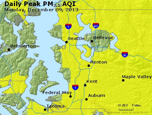 Peak Particles PM<sub>2.5</sub> (24-hour) - https://files.airnowtech.org/airnow/2013/20131209/peak_pm25_seattle_wa.jpg