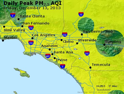 Peak Particles PM<sub>2.5</sub> (24-hour) - https://files.airnowtech.org/airnow/2013/20131213/peak_pm25_losangeles_ca.jpg
