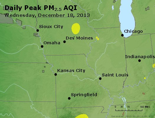 Peak Particles PM<sub>2.5</sub> (24-hour) - https://files.airnowtech.org/airnow/2013/20131218/peak_pm25_ia_il_mo.jpg