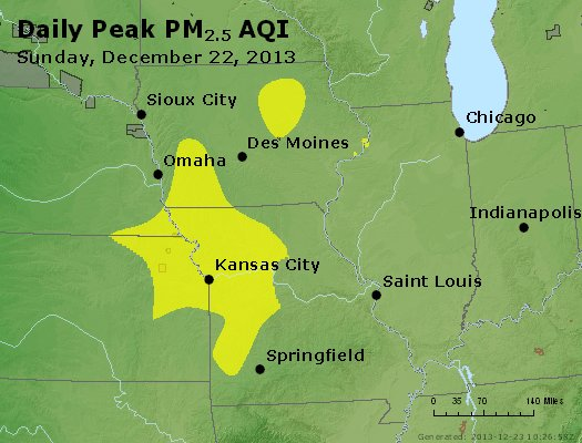 Peak Particles PM<sub>2.5</sub> (24-hour) - https://files.airnowtech.org/airnow/2013/20131222/peak_pm25_ia_il_mo.jpg