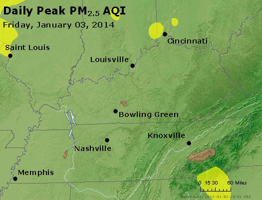 Peak Particles PM<sub>2.5</sub> (24-hour) - https://files.airnowtech.org/airnow/2014/20140103/peak_pm25_ky_tn.jpg