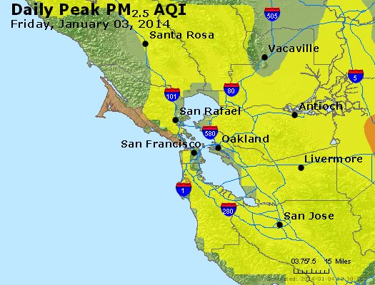 Peak Particles PM<sub>2.5</sub> (24-hour) - https://files.airnowtech.org/airnow/2014/20140103/peak_pm25_sanfrancisco_ca.jpg