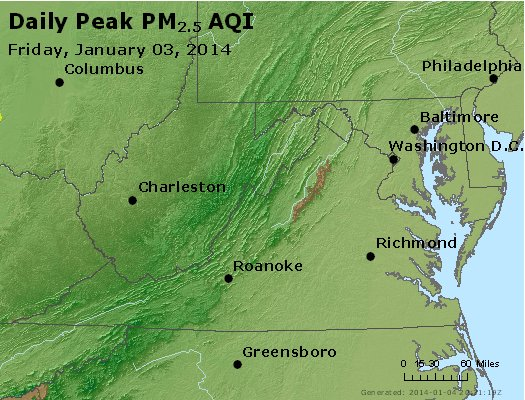 Peak Particles PM2.5 (24-hour) - https://files.airnowtech.org/airnow/2014/20140103/peak_pm25_va_wv_md_de_dc.jpg