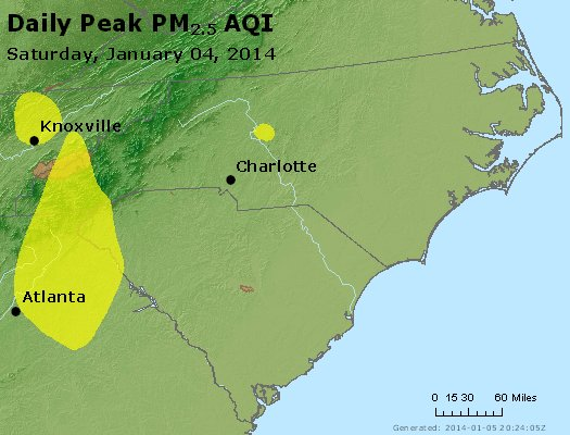 Peak Particles PM2.5 (24-hour) - https://files.airnowtech.org/airnow/2014/20140104/peak_pm25_nc_sc.jpg