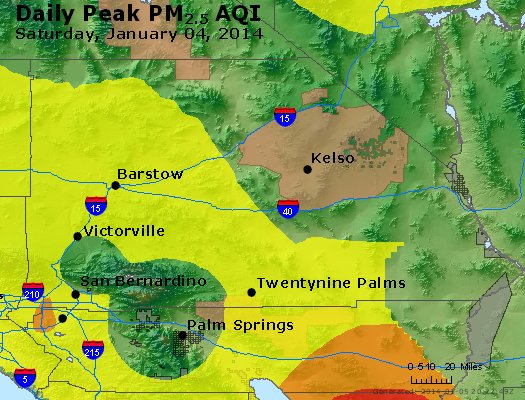 Peak Particles PM<sub>2.5</sub> (24-hour) - https://files.airnowtech.org/airnow/2014/20140104/peak_pm25_sanbernardino_ca.jpg