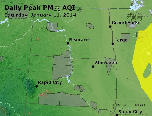 Peak Particles PM2.5 (24-hour) - https://files.airnowtech.org/airnow/2014/20140111/peak_pm25_nd_sd.jpg