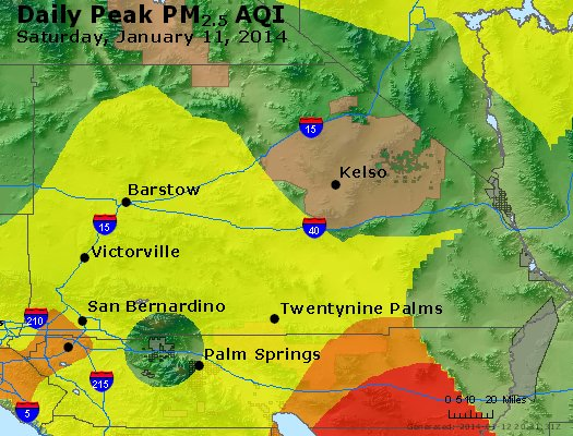 Peak Particles PM<sub>2.5</sub> (24-hour) - https://files.airnowtech.org/airnow/2014/20140111/peak_pm25_sanbernardino_ca.jpg