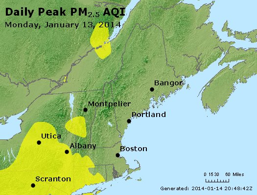 Peak Particles PM<sub>2.5</sub> (24-hour) - https://files.airnowtech.org/airnow/2014/20140113/peak_pm25_vt_nh_ma_ct_ri_me.jpg