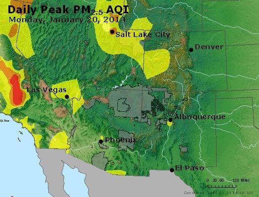 Peak Particles PM2.5 (24-hour) - https://files.airnowtech.org/airnow/2014/20140120/peak_pm25_co_ut_az_nm.jpg