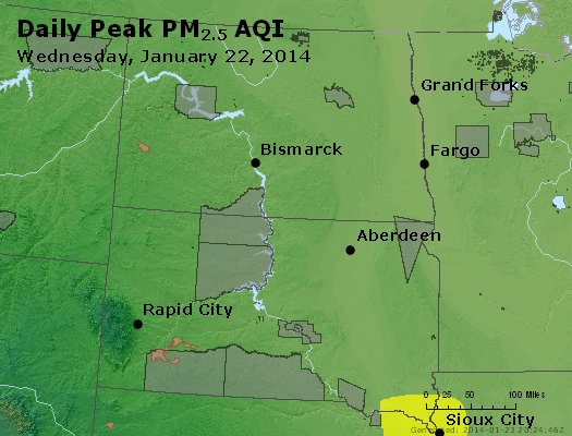 Peak Particles PM2.5 (24-hour) - https://files.airnowtech.org/airnow/2014/20140122/peak_pm25_nd_sd.jpg