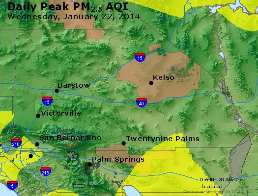 Peak Particles PM<sub>2.5</sub> (24-hour) - https://files.airnowtech.org/airnow/2014/20140122/peak_pm25_sanbernardino_ca.jpg