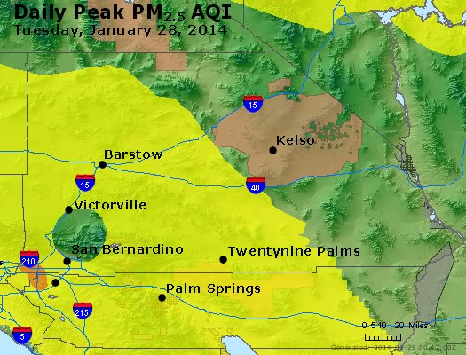 Peak Particles PM<sub>2.5</sub> (24-hour) - https://files.airnowtech.org/airnow/2014/20140128/peak_pm25_sanbernardino_ca.jpg