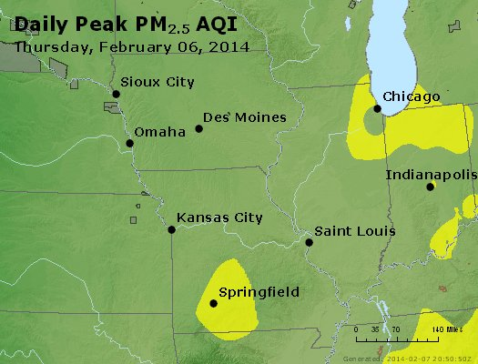 Peak Particles PM<sub>2.5</sub> (24-hour) - https://files.airnowtech.org/airnow/2014/20140206/peak_pm25_ia_il_mo.jpg