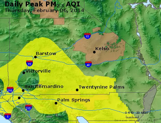 Peak Particles PM<sub>2.5</sub> (24-hour) - https://files.airnowtech.org/airnow/2014/20140206/peak_pm25_sanbernardino_ca.jpg