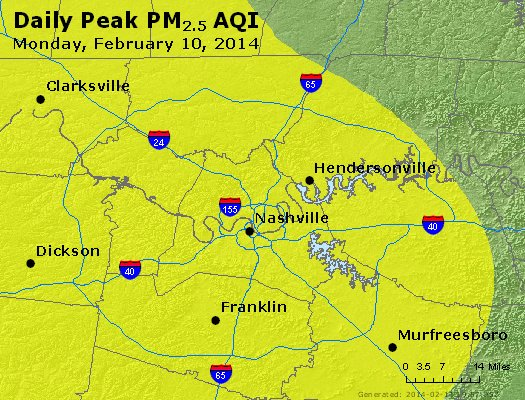 Peak Particles PM<sub>2.5</sub> (24-hour) - https://files.airnowtech.org/airnow/2014/20140210/peak_pm25_nashville_tn.jpg