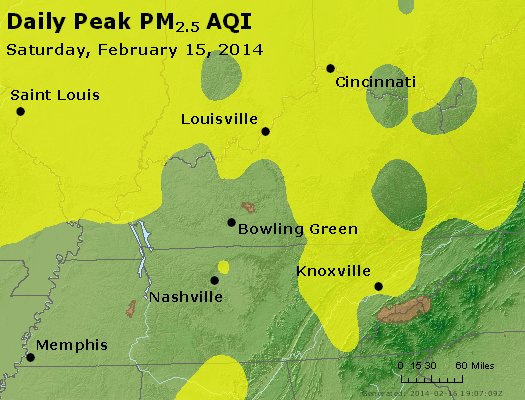 Peak Particles PM<sub>2.5</sub> (24-hour) - https://files.airnowtech.org/airnow/2014/20140215/peak_pm25_ky_tn.jpg