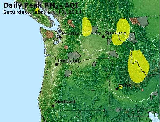 Peak Particles PM<sub>2.5</sub> (24-hour) - https://files.airnowtech.org/airnow/2014/20140215/peak_pm25_wa_or.jpg