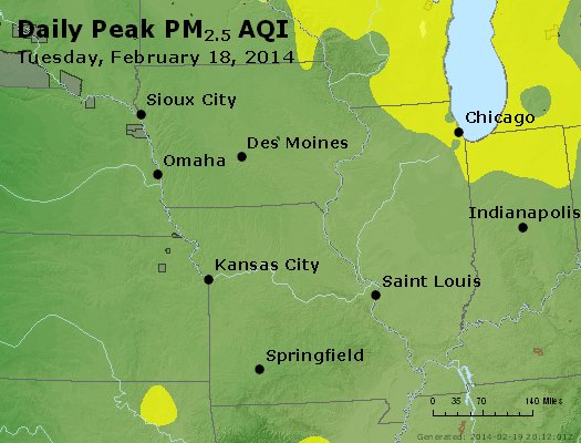Peak Particles PM<sub>2.5</sub> (24-hour) - https://files.airnowtech.org/airnow/2014/20140218/peak_pm25_ia_il_mo.jpg