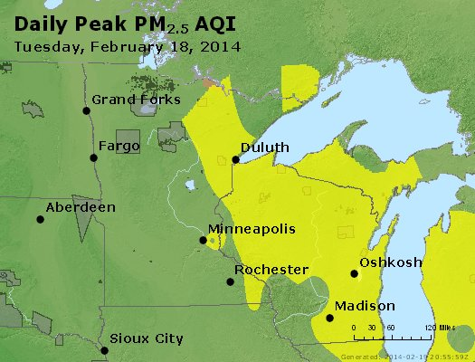Peak Particles PM2.5 (24-hour) - https://files.airnowtech.org/airnow/2014/20140218/peak_pm25_mn_wi.jpg