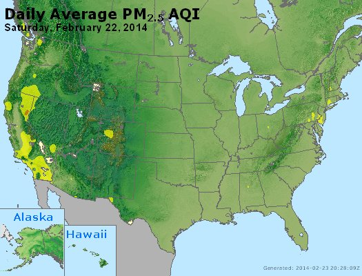 Peak Particles PM<sub>2.5</sub> (24-hour) - https://files.airnowtech.org/airnow/2014/20140222/peak_pm25_usa.jpg