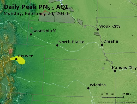 Peak Particles PM<sub>2.5</sub> (24-hour) - https://files.airnowtech.org/airnow/2014/20140224/peak_pm25_ne_ks.jpg
