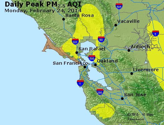 Peak Particles PM<sub>2.5</sub> (24-hour) - https://files.airnowtech.org/airnow/2014/20140224/peak_pm25_sanfrancisco_ca.jpg