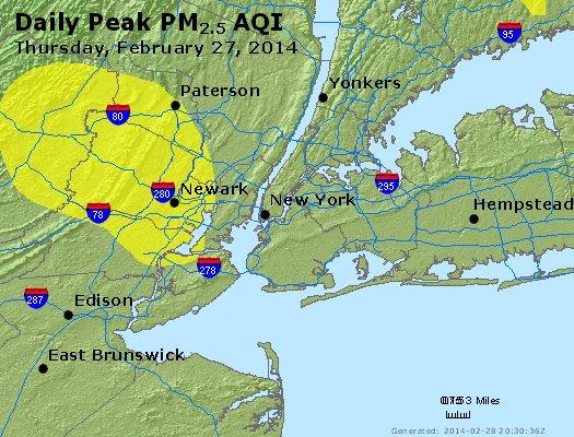 Peak Particles PM<sub>2.5</sub> (24-hour) - https://files.airnowtech.org/airnow/2014/20140227/peak_pm25_newyork_ny.jpg