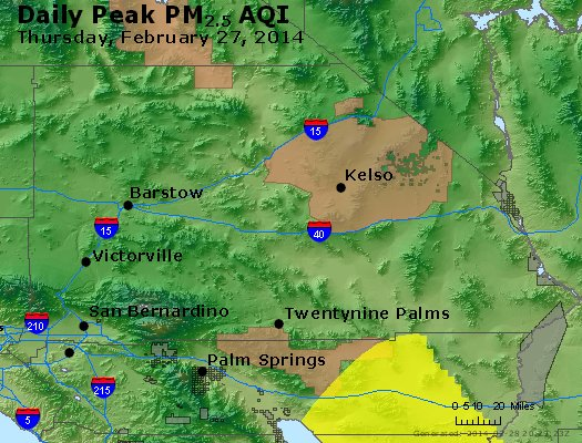 Peak Particles PM<sub>2.5</sub> (24-hour) - https://files.airnowtech.org/airnow/2014/20140227/peak_pm25_sanbernardino_ca.jpg