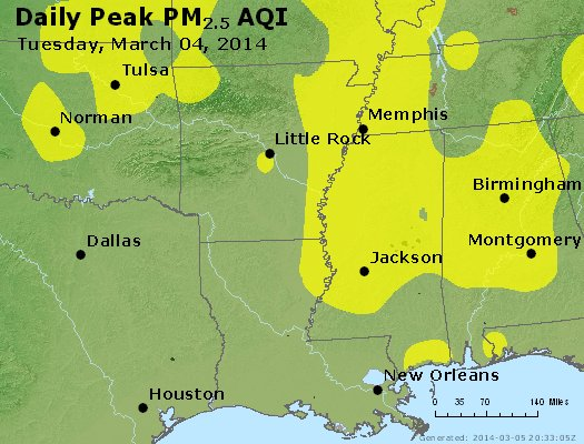 Peak Particles PM2.5 (24-hour) - https://files.airnowtech.org/airnow/2014/20140304/peak_pm25_ar_la_ms.jpg