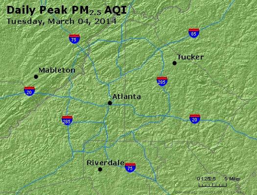 Peak Particles PM<sub>2.5</sub> (24-hour) - https://files.airnowtech.org/airnow/2014/20140304/peak_pm25_atlanta_ga.jpg