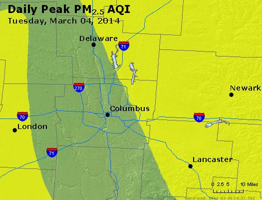 Peak Particles PM<sub>2.5</sub> (24-hour) - https://files.airnowtech.org/airnow/2014/20140304/peak_pm25_columbus_oh.jpg