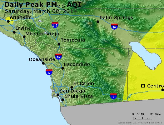 Peak Particles PM<sub>2.5</sub> (24-hour) - https://files.airnowtech.org/airnow/2014/20140308/peak_pm25_sandiego_ca.jpg