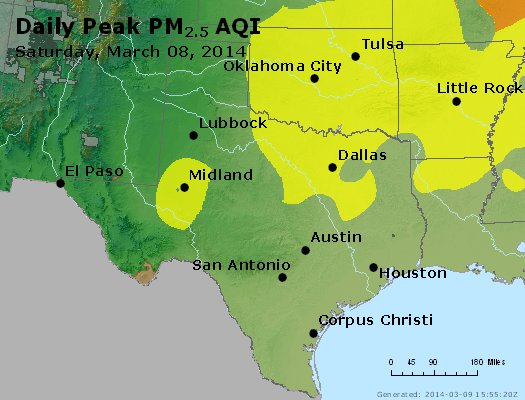 Peak Particles PM2.5 (24-hour) - https://files.airnowtech.org/airnow/2014/20140308/peak_pm25_tx_ok.jpg