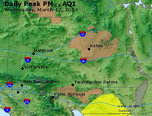 Peak Particles PM<sub>2.5</sub> (24-hour) - https://files.airnowtech.org/airnow/2014/20140312/peak_pm25_sanbernardino_ca.jpg