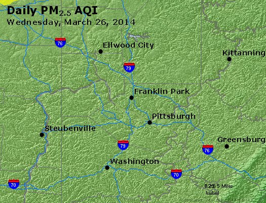 Peak Particles PM<sub>2.5</sub> (24-hour) - https://files.airnowtech.org/airnow/2014/20140326/peak_pm25_pittsburgh_pa.jpg