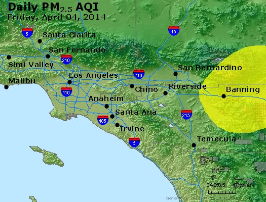 Peak Particles PM<sub>2.5</sub> (24-hour) - https://files.airnowtech.org/airnow/2014/20140404/peak_pm25_losangeles_ca.jpg