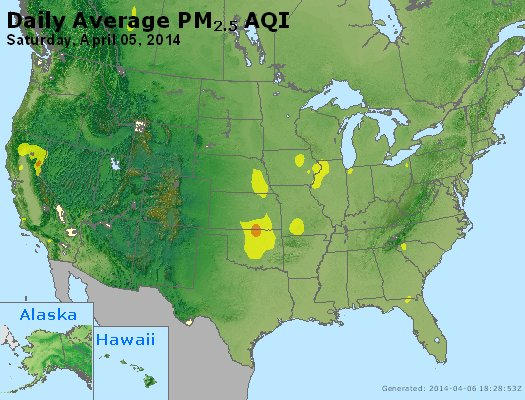 Peak Particles PM2.5 (24-hour) - https://files.airnowtech.org/airnow/2014/20140405/peak_pm25_usa.jpg