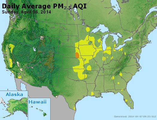 Peak Particles PM2.5 (24-hour) - https://files.airnowtech.org/airnow/2014/20140406/peak_pm25_usa.jpg