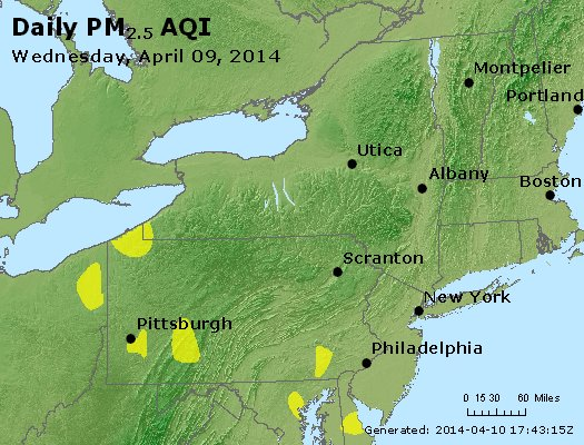 Peak Particles PM<sub>2.5</sub> (24-hour) - https://files.airnowtech.org/airnow/2014/20140409/peak_pm25_ny_pa_nj.jpg