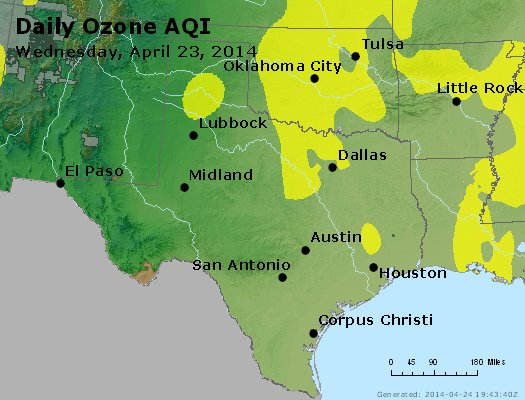 Peak Ozone (8-hour) - https://files.airnowtech.org/airnow/2014/20140423/peak_o3_tx_ok.jpg