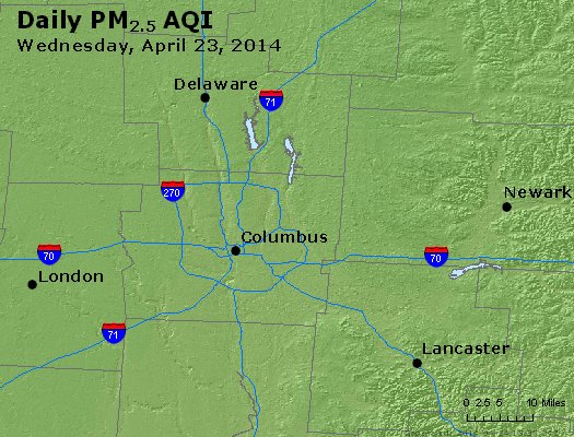 Peak Particles PM<sub>2.5</sub> (24-hour) - https://files.airnowtech.org/airnow/2014/20140423/peak_pm25_columbus_oh.jpg