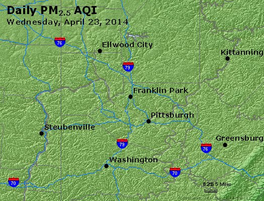 Peak Particles PM<sub>2.5</sub> (24-hour) - https://files.airnowtech.org/airnow/2014/20140423/peak_pm25_pittsburgh_pa.jpg