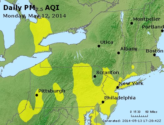 Peak Particles PM<sub>2.5</sub> (24-hour) - https://files.airnowtech.org/airnow/2014/20140512/peak_pm25_ny_pa_nj.jpg