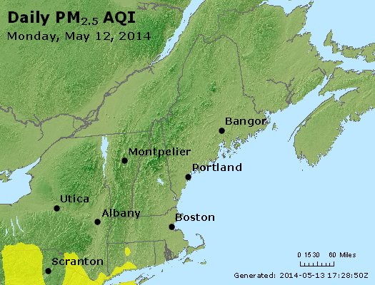 Peak Particles PM2.5 (24-hour) - https://files.airnowtech.org/airnow/2014/20140512/peak_pm25_vt_nh_ma_ct_ri_me.jpg