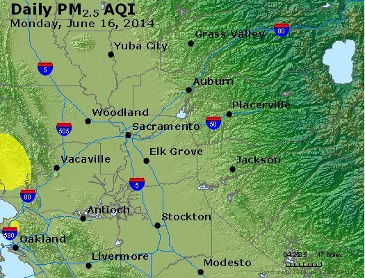 Peak Particles PM<sub>2.5</sub> (24-hour) - https://files.airnowtech.org/airnow/2014/20140616/peak_pm25_sacramento_ca.jpg