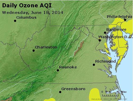 Peak Ozone (8-hour) - https://files.airnowtech.org/airnow/2014/20140618/peak_o3_va_wv_md_de_dc.jpg