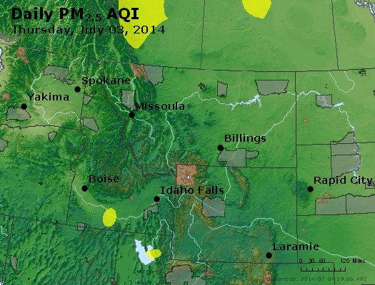 Peak Particles PM2.5 (24-hour) - https://files.airnowtech.org/airnow/2014/20140703/peak_pm25_mt_id_wy.jpg