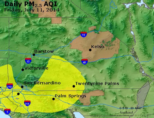 Peak Particles PM<sub>2.5</sub> (24-hour) - https://files.airnowtech.org/airnow/2014/20140711/peak_pm25_sanbernardino_ca.jpg