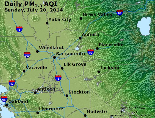 Peak Particles PM<sub>2.5</sub> (24-hour) - https://files.airnowtech.org/airnow/2014/20140720/peak_pm25_sacramento_ca.jpg